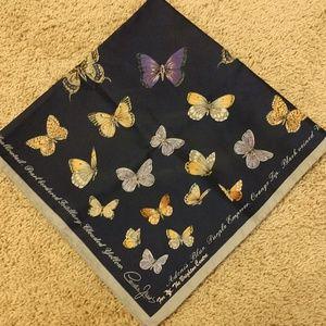 Vintage 70s Cornelia James Butterfly Scarf